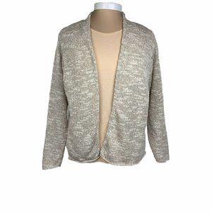 Eileen Fisher Beige Linen Silk Cotton Blend XL